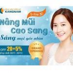 SALE OFF 25% Nâng mũi cao sang tại Bệnh viện thẩm mỹ Kangnam