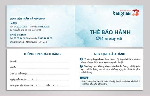 Chuyên khoa thẩm mỹ mũi tại Kangnam áp dụng chế độ bảo hành 10 năm cho khách hàng