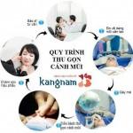 Tại Kangnam, quy trình thu gọn cánh mũi được thực hiện như thế nào?