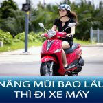 Nâng mũi bao lâu thì đi xe máy được ?